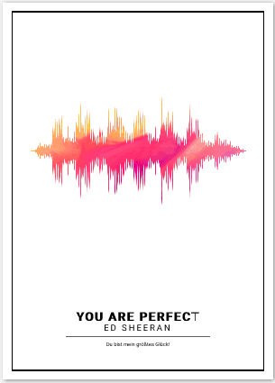 personalisierte Soundwave