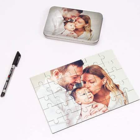 Puzzle mit Foto aus Holz