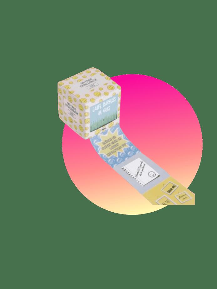 preisgünstige Geschenke happy challenge box